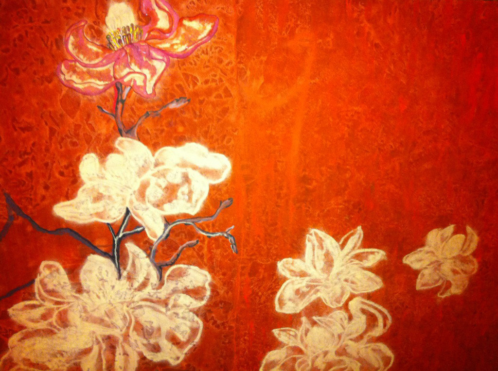Magnolia rouge