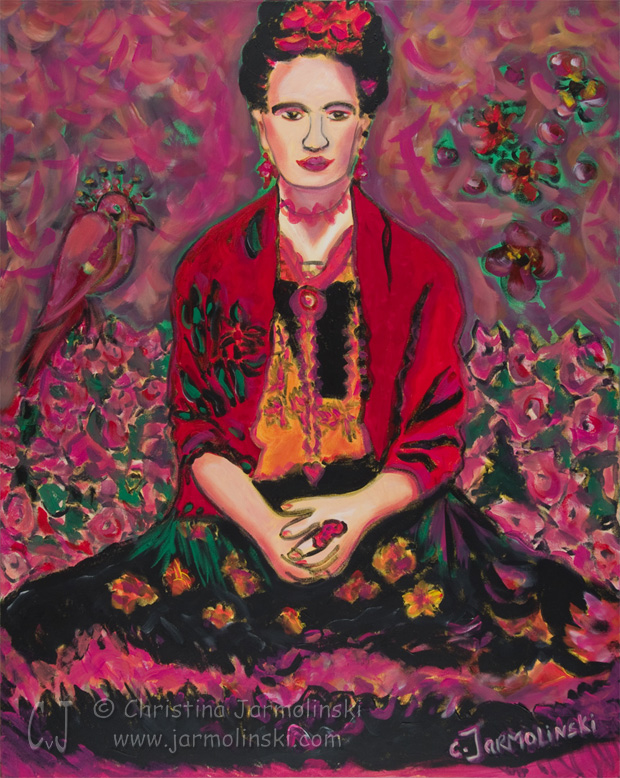 """frida kahlo comes dinner christine strickland choose poem The poem """"frida kahlo comes to dinner"""" by christine strickland is a compelling poem strongly portraying the female character of frida kahlo, famous artist and writer strickland's portrayal of kahlo's personality is reinforced through her successful use of language, imagery, personification and other literary techniques."""