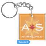 Artshine keyring square single sided