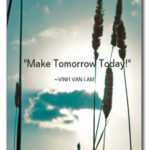 postcard Make tomorrow today front
