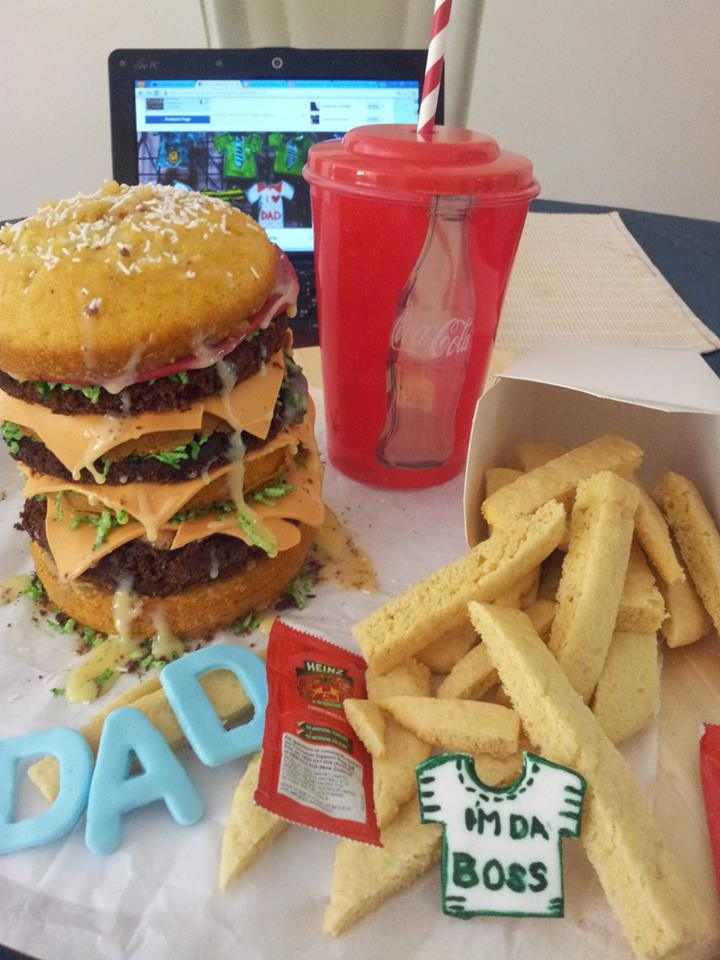 Avie-Burger Cake