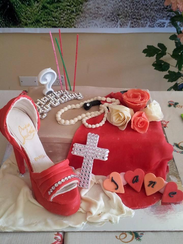 Avie-Loubotin Shoe Cake