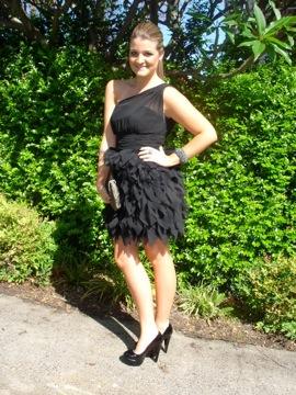 Girl in cocktail dress