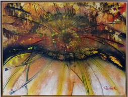 Pre-realism painting- 'Iris' - 60x80 cm