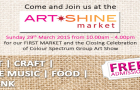 ArtSHINE's First Market  Sunday 29 March 2015