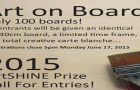 "Call for Entries  ""Art on Board"" ArtSHINE Gallery Art Prize"