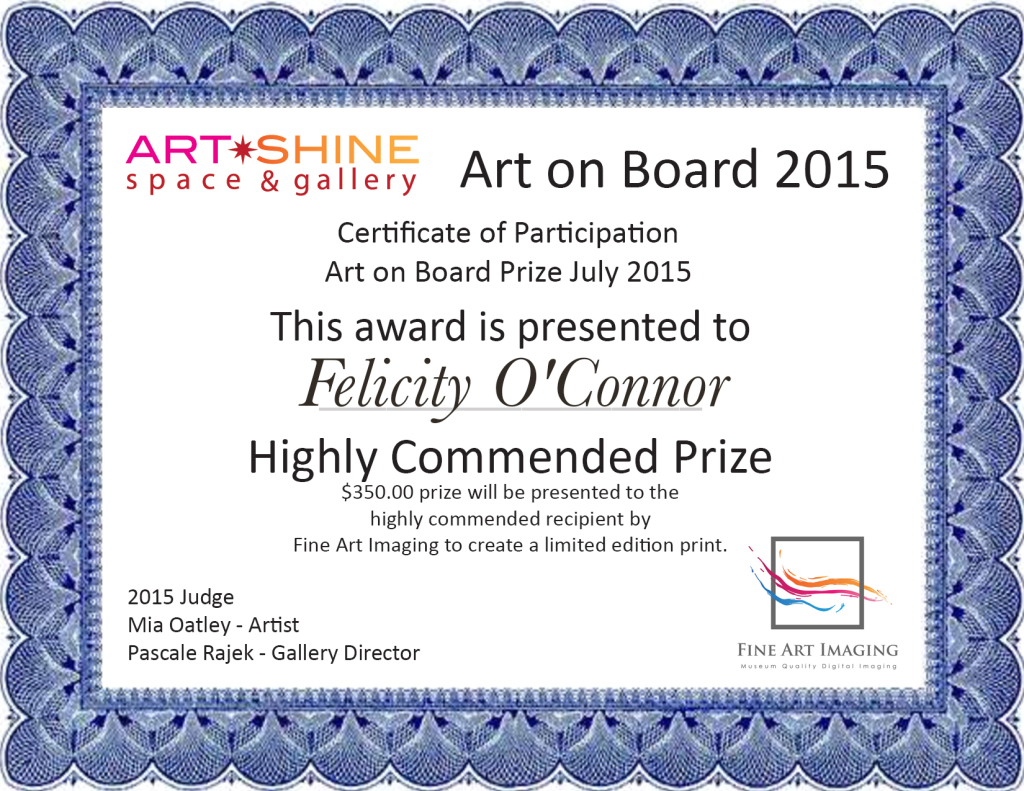 Art on Board-Highly Commended-Felicity