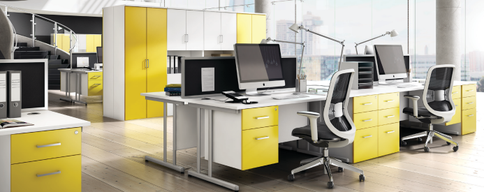 Artshine here s how an office makeover can revitalise your for Office design yellow