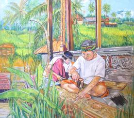 Balinese Craftman by Helen Dubrovich