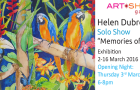 "You are invited to Artist Helen Dubrovich's Solo Art Show ""Memories of Bali"" Opening  evening  Thursday 3rd March"