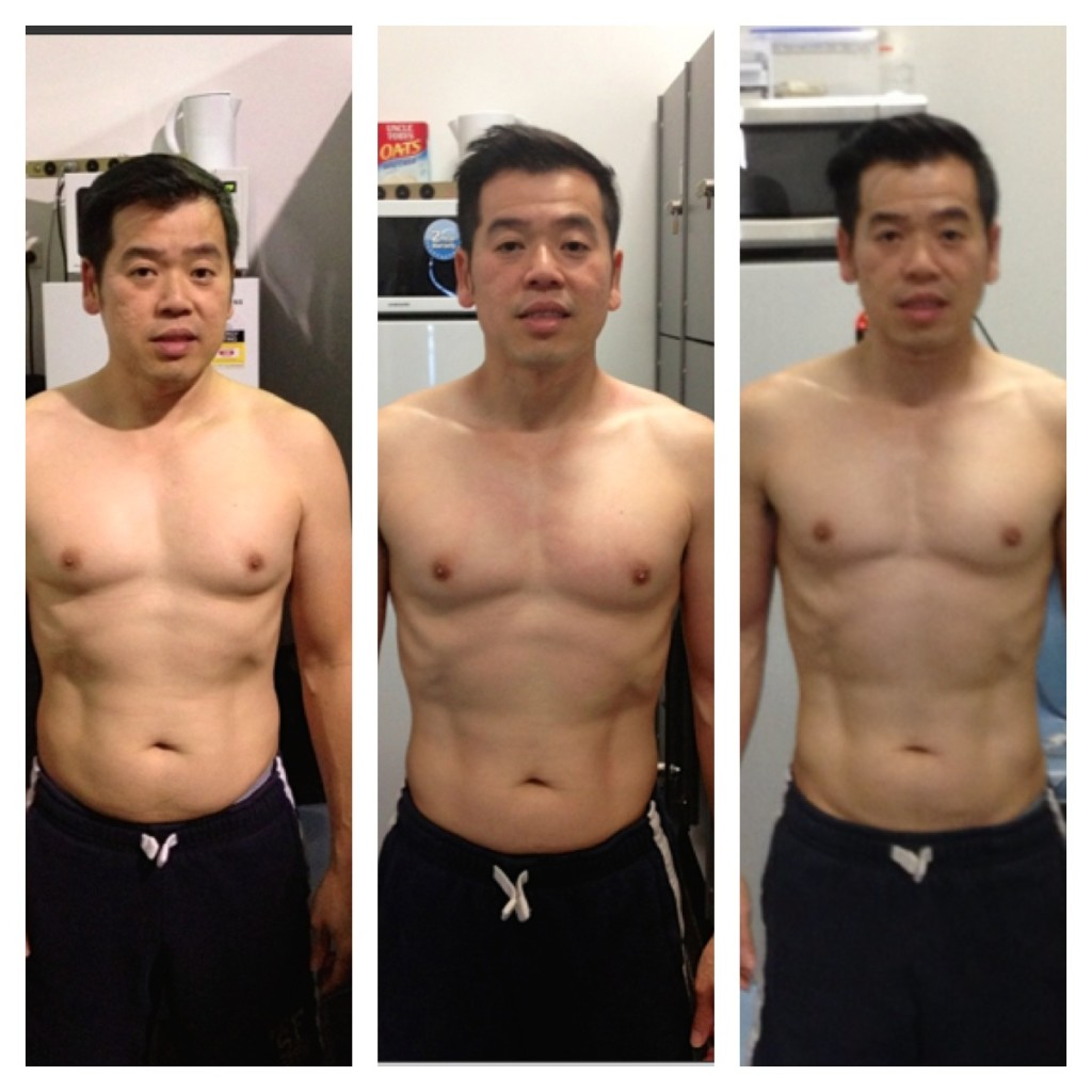 Vinh's body toning progress
