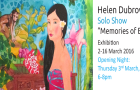 "Close Up interview with Artist Helen Dubrovich & Her Solo Show ""Memories of Bali""  3-16 March 2016"