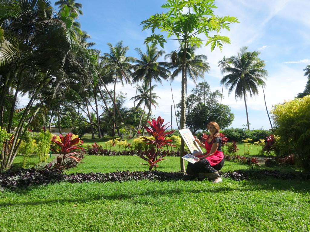 ArtSHINE.com.au-KristineBallard-Painting in Fiji