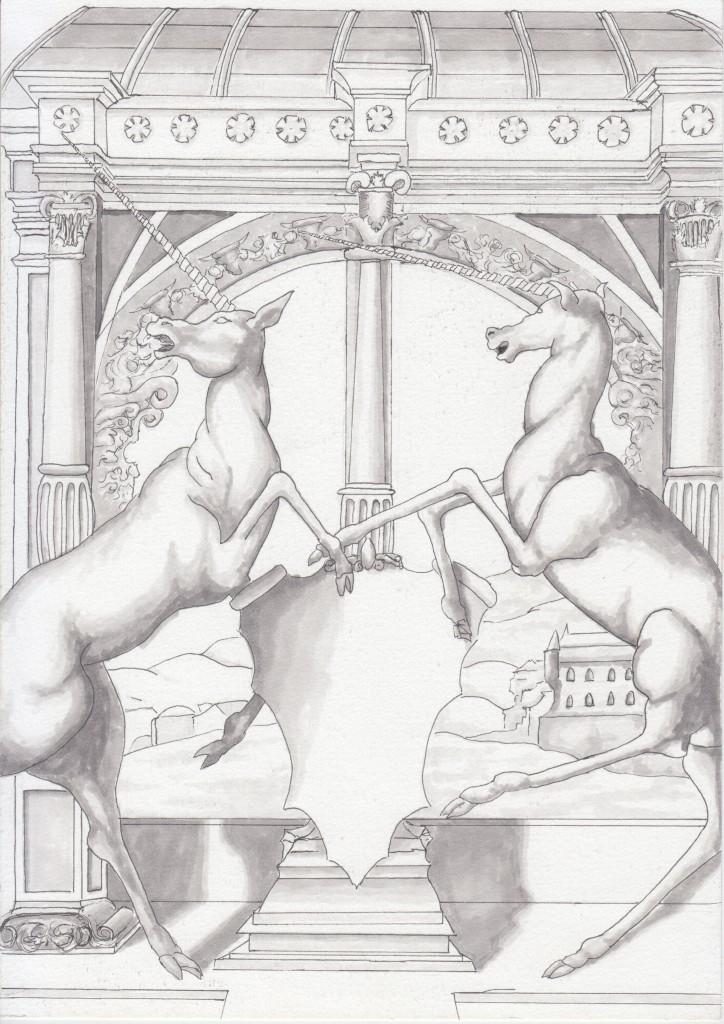 ArtSHINE.Com.au-Study_0f-window_with _two_Unicorns-leon_harvey_