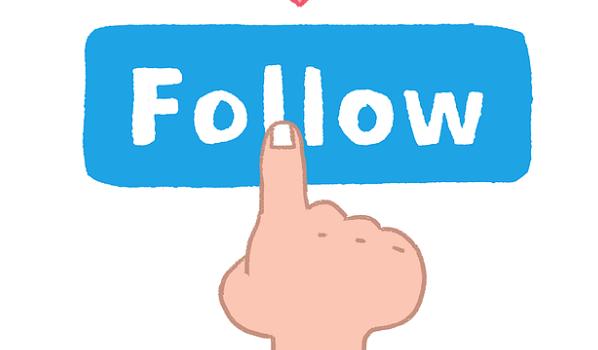 Follow icon- Social media