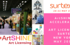 ArtSHINE @ SURTEX in New York MAY 2018