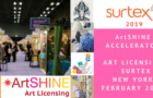 ArtSHINE @ SURTEX in New York February 2019